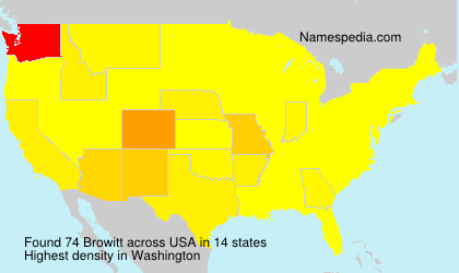 Surname Browitt in USA