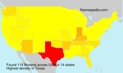 Surname Brownd in USA