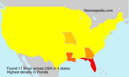 Surname Broyl in USA