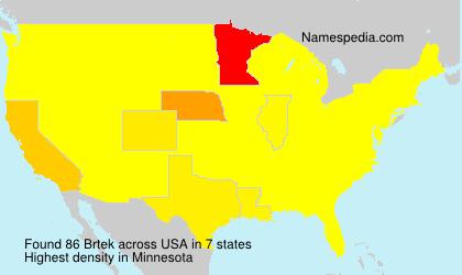 Surname Brtek in USA