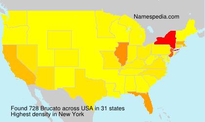 Familiennamen Brucato - USA