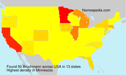 Surname Bruchmann in USA