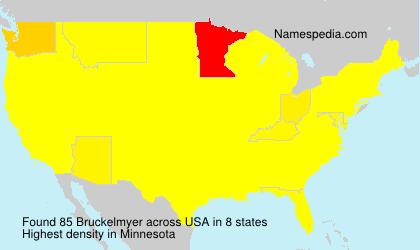Familiennamen Bruckelmyer - USA