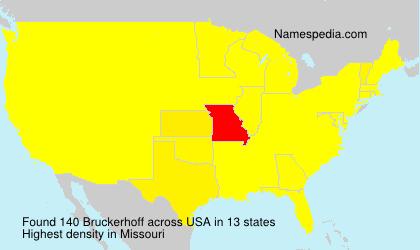 Surname Bruckerhoff in USA