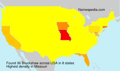 Surname Bruckshaw in USA