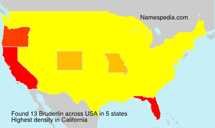 Surname Bruderlin in USA