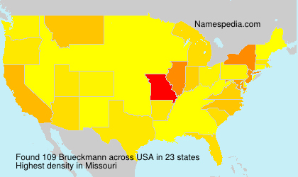Surname Brueckmann in USA