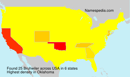 Surname Bruhwiler in USA