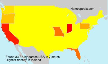 Familiennamen Bruhy - USA