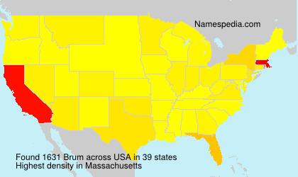 Familiennamen Brum - USA