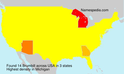 Surname Brumbill in USA