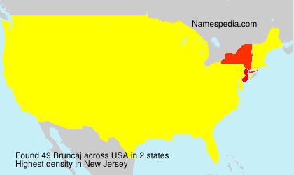 Surname Bruncaj in USA