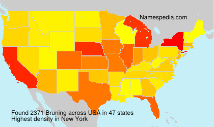 Surname Bruning in USA