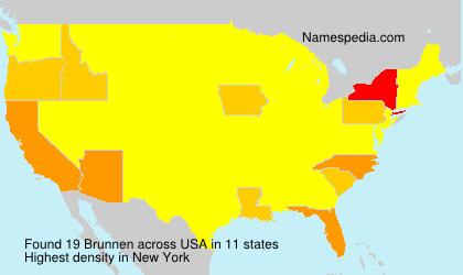 Surname Brunnen in USA