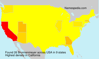 Surname Brunnenmeyer in USA
