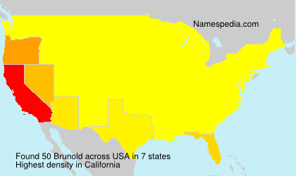Surname Brunold in USA