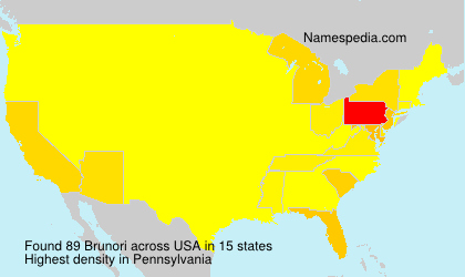 Surname Brunori in USA