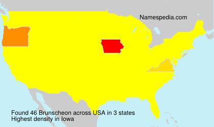 Familiennamen Brunscheon - USA