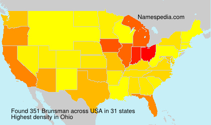 Surname Brunsman in USA