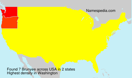 Surname Brunyee in USA