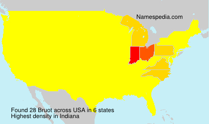 Surname Bruot in USA