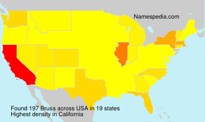Surname Brusa in USA