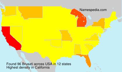 Surname Brusati in USA