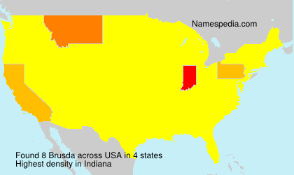Familiennamen Brusda - USA