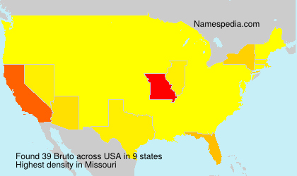 Surname Bruto in USA