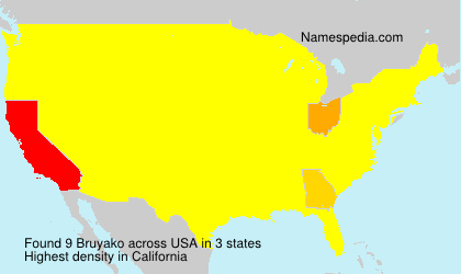 Surname Bruyako in USA