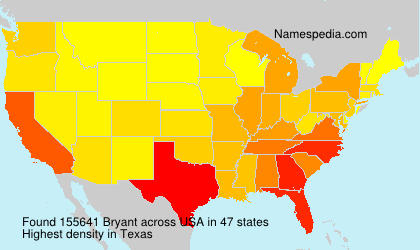 Surname Bryant in USA