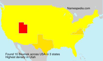 Familiennamen Bsumek - USA