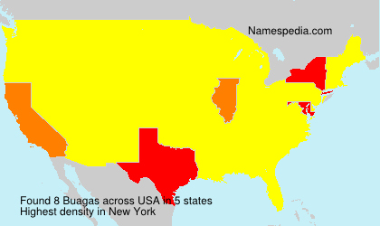Surname Buagas in USA