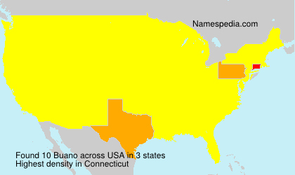 Surname Buano in USA