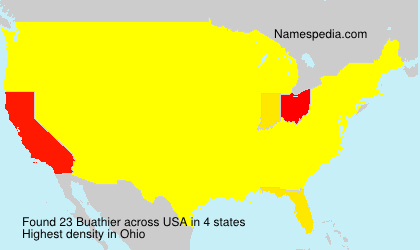 Surname Buathier in USA