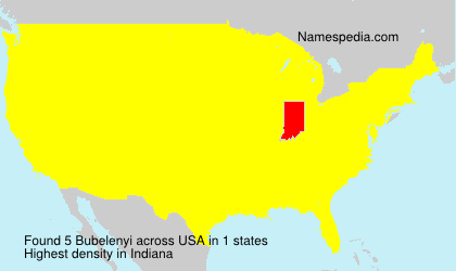 Surname Bubelenyi in USA