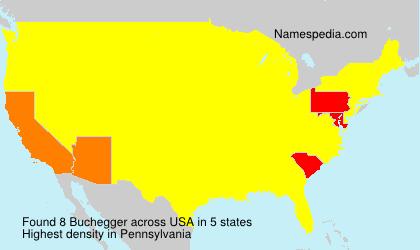Familiennamen Buchegger - USA