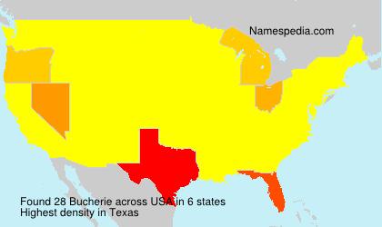 Surname Bucherie in USA