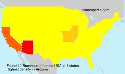 Surname Buchhauser in USA