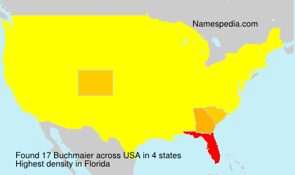 Familiennamen Buchmaier - USA