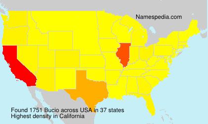 Surname Bucio in USA