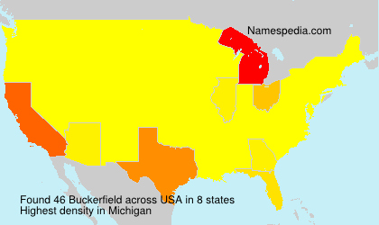 Surname Buckerfield in USA