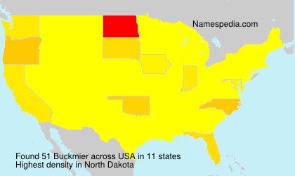 Surname Buckmier in USA