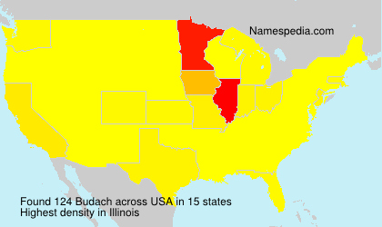 Surname Budach in USA