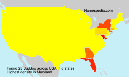 Surname Buddoo in USA