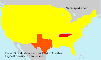Surname Budhabhatti in USA