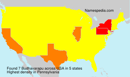 Surname Budhavarapu in USA