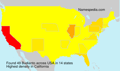 Surname Budianto in USA