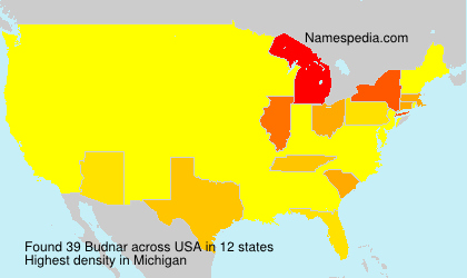 Surname Budnar in USA