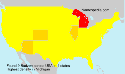 Surname Budzen in USA